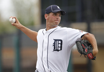 LAKELAND, FL - MARCH 01: Jacob Turner #50 of the Detroit Tigers pitches in the first inning during the game against the Toronto Blue Jays at Joker Marchant Stadium on March 1, 2011 in Lakeland, Florida. The Tigers defeated the Blue Jays 6-2.  (Photo by Le