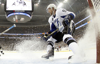 PITTSBURGH, PA - APRIL 27:  Steven Stamkos #91 of the Tampa Bay Lightning skates against the Pittsburgh Penguins in Game Seven of the Eastern Conference Quarterfinals during the 2011 NHL Stanley Cup Playoffs at Consol Energy Center on April 27, 2011 in Pi
