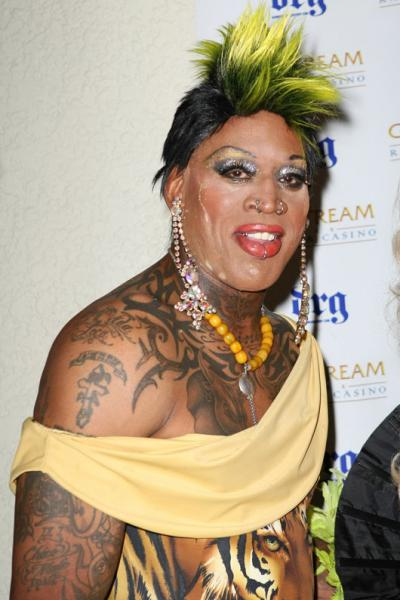 Dennis Rodman Is Probably The First Person That Comes To Mind When You Think Of Cross Dressing Athletes And He Surely Doesnt Disappoint