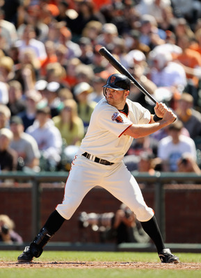 SAN FRANCISCO, CA - APRIL 24:  Nate Schierholtz #12 of the San Francisco Giants in action against the Atlanta Braves at AT&T Park on April 24, 2011 in San Francisco, California.  (Photo by Ezra Shaw/Getty Images)