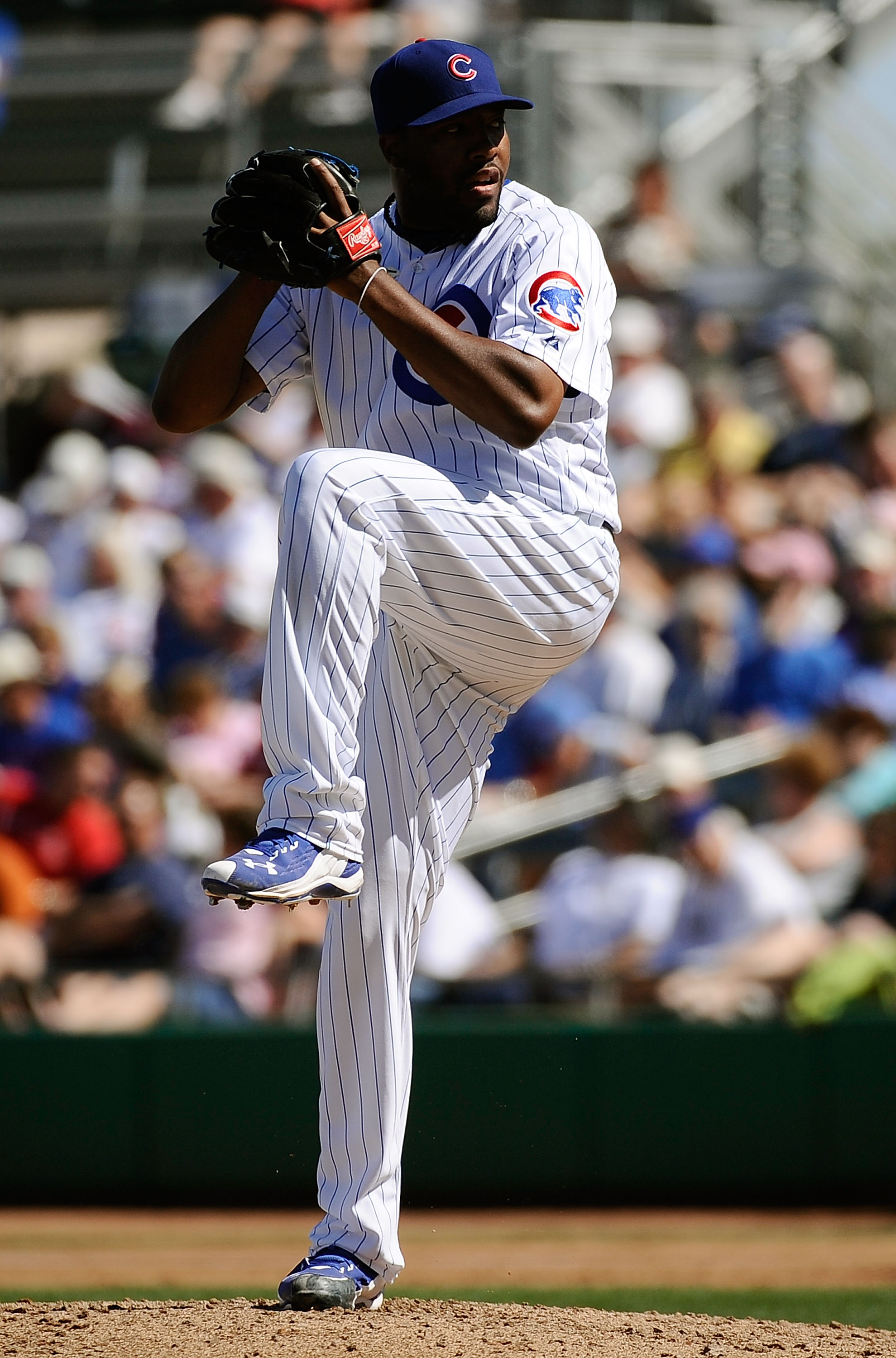 MESA, AZ - MARCH 09:  Jay Jackson #65 of the Chicago Cubs throws a pitch against the Kansas City Royals during the spring training baseball game at HoHoKam Stadium on March 9, 2011 in Mesa, Arizona.  (Photo by Kevork Djansezian/Getty Images)