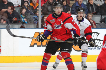 TORONTO, CAN - JANUARY 19:  Ryan Murphy #24 of Team Cherry skates against Team Orr in the 2011 Home Hardware Top Prospects game on January 19, 2011 at the Air Canada Centre in Toronto, Canada. Team Orr defeated Team Cherry 7-1. (Photo by Claus Andersen/Ge