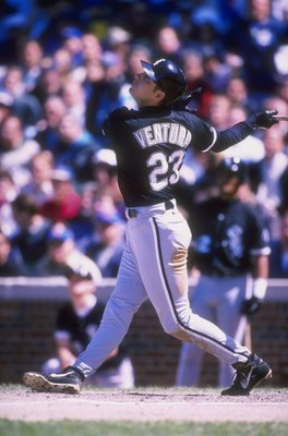 5 Jun 1998:  Robin Ventura #23 of the Chicago White Sox in action during a game against the Chicago Cubs at Wrigley Field in Chicago, Illinois. The Cubs defeated the White Sox 6-5. Mandatory Credit: Jonathan Daniel  /Allsport