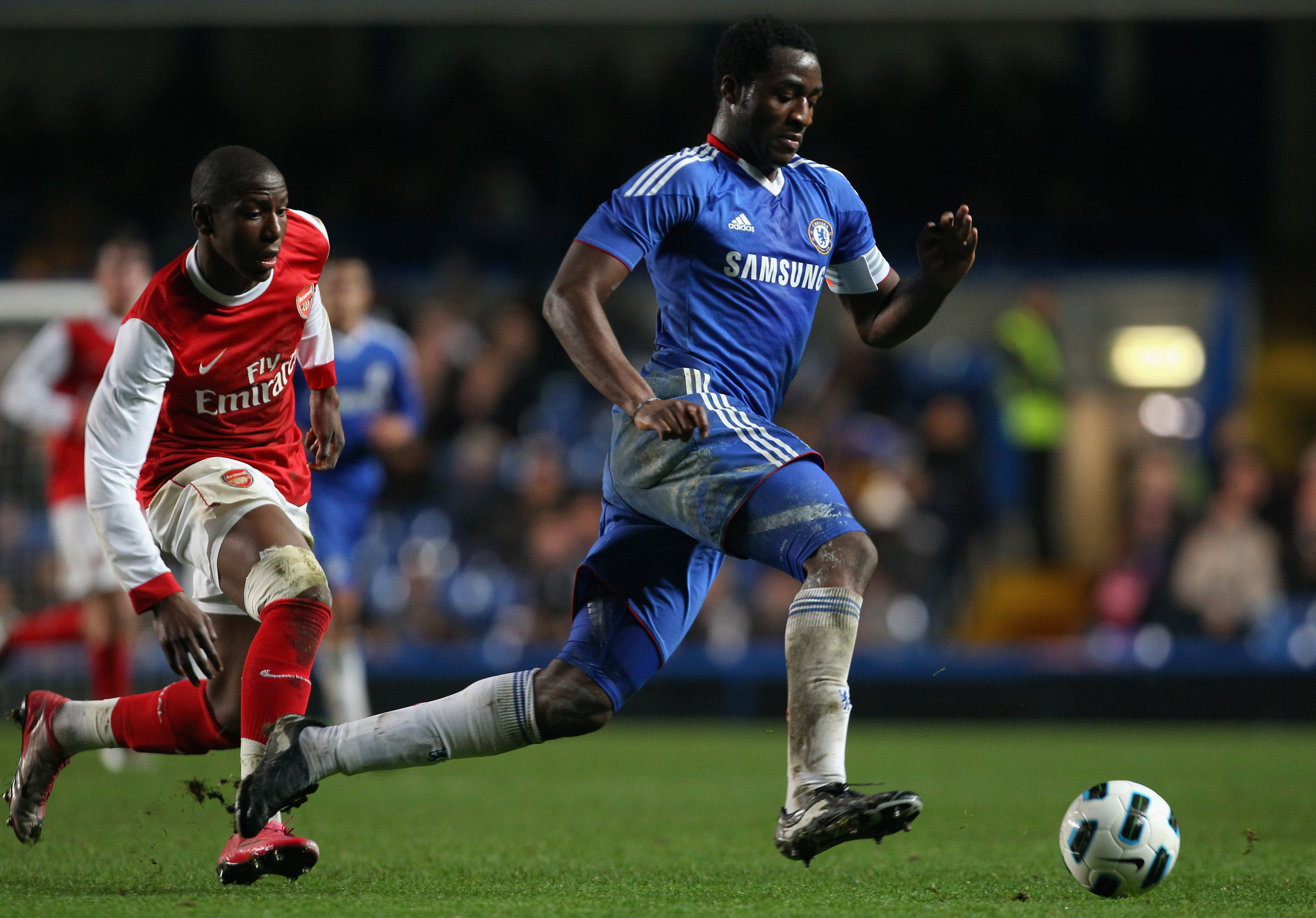 LONDON, ENGLAND - JANUARY 20: Daniel Pappoe of Chelsea in action during the FA Youth Cup match between Chelsea and Arsenal at Stamford Bridge on January 20, 2011 in London, England.  (Photo by Clive Rose/Getty Images)