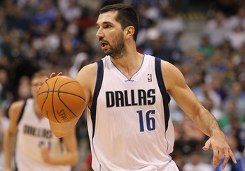 DALLAS, TX - FEBRUARY 23:  Forward Peja Stojakovic #16 of the Dallas Mavericks at American Airlines Center on February 23, 2011 in Dallas, Texas.  NOTE TO USER: User expressly acknowledges and agrees that, by downloading and or using this photograph, User