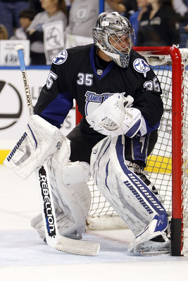 Tampa Bay's Dwayne Roloson leads the NHL in playoff goaltending statistics