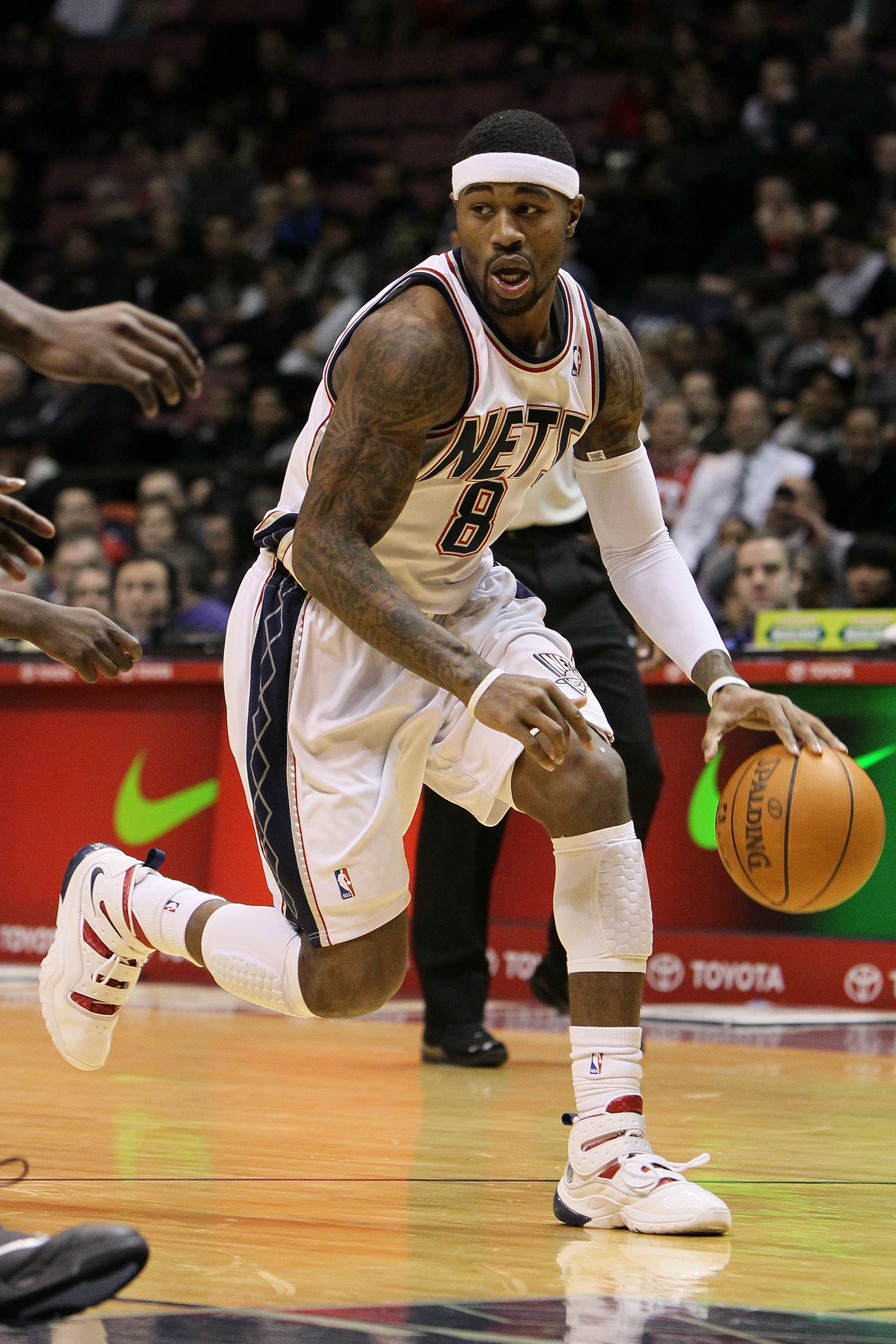 EAST RUTHERFORD, NJ - DECEMBER 16:  Terrence Williams #8 of the New Jersey Nets in action against The Utah Jazz during their game on December 16th, 2009 at The Izod Center in East Rutherford, New Jersey.  NOTE TO USER: User expressly acknowledges and agre