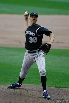 Ubaldo Jimenez threw the first no-hitter in Rockies' history in 2010.