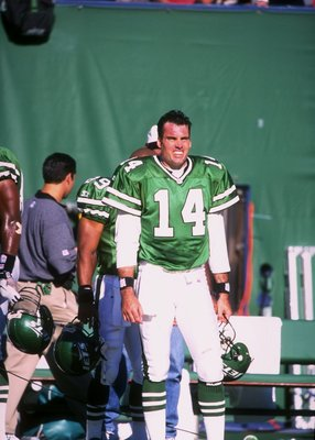12 Oct 1997:  Neil O''Donnell of the New York Jets during the Jets31-20 loss to the Miami Dolphins at the Meadowlands in East Rutherford, New Jersey. Mandatory Credit: Tomasso Derosa  /Allsport