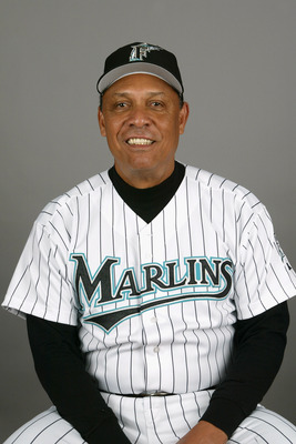 JUPITER, FL - FEBRUARY 28:  Coach Tony Perez of the Florida Marlins during photo day February 28, 2004 at Roger Dean Stadium in Jupiter, Florida. (Photo by Eliot J. Schechter/Getty Images)