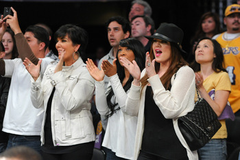 LOS ANGELES, CA - APRIL 20:  Khloe Kardashian (R) and Kris Jenner attend the game between the New Orleans Hornets and the Los Angeles Lakers at Staples Center on April 20, 2011 in Los Angeles, California.  (Photo by Noel Vasquez/Getty Images)