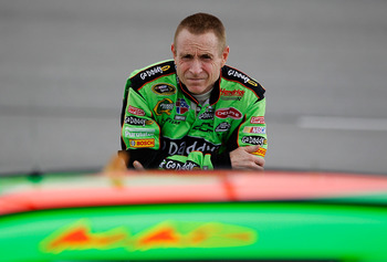 DARLINGTON, SC - MAY 06:  Mark Martin, driver of the #5 Carquest/GoDaddy.com Chevrolet, stands on the grid during qualifying for the NASCAR Sprint Cup Series SHOWTIME Southern 500 at Darlington Raceway on May 6, 2011 in Darlington, South Carolina.  (Photo