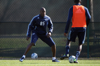 KANSAS CITY, MO - MARCH 23:  Chad Ochocinco begins tryout with Sporting Kansas City on March 23, 2011 in Kansas City, Missouri.  (Photo by Jamie Squire/Getty Images)