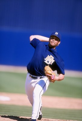 2 Mar 1998:  Bobby Chouinard #65 of the Milwaukee Brewers in action during a spring training game against the Arizona Diamondbacks at the Maryvale Baseball Park in Phoenix, Arizona. Mandatory Credit: Jeff Carlick  /Allsport