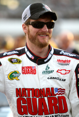 RICHMOND, VA - APRIL 30:  Dale Earnhardt Jr., driver of the #88 National Guard / AMP Energy Chevrolet waits on the grid prior to the NASCAR Sprint Cup Series Crown Royal Presents The Matthew & Daniel Hansen 400 at Richmond International Raceway on April 3
