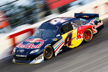 DARLINGTON, SC - MAY 07:  Kasey Kahne, driver of the #4 Red Bull Toyota, races during the NASCAR Sprint Cup Series SHOWTIME Southern 500 at Darlington Raceway on May 7, 2011 in Darlington, South Carolina.  (Photo by Geoff Burke/Getty Images for NASCAR)