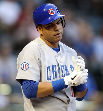 PHOENIX, AZ - APRIL 28:  Aramis Ramirez #16 of the Chicago Cubs waits to bat during the Major League Baseball game against the Arizona Diamondbacks at Chase Field on April 28, 2011 in Phoenix, Arizona.  The Diamondbacks defeated the Cubs 11-2.  (Photo by