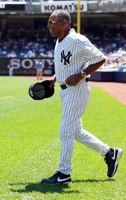 NEW YORK - JULY 19:  Former New York Yankee Horace Clarke is introduced during the teams 63rd Old Timers Day before the game against the Detroit Tigers on July 19, 2009 at Yankee Stadium in the Bronx borough of New York City.  (Photo by Jim McIsaac/Getty