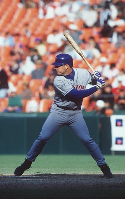 19 May 1996:  Rico Brogna of New York Mets at bat during their 6-2 loss to the San Fransisco Giants at 3 Comm Park in San Fransisco, California. Mandatory Credit: Otto Greule/Allsport