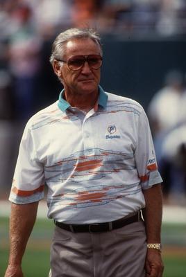 Miami Dolphins head coach Don Shula. Mandatory Credit: Scott Halleran/ALLSPORT
