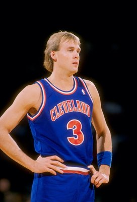 1989-1990:  Guard Craig Ehlo of the Cleveland Cavaliers looks on during a game. Mandatory Credit: Tim de Frisco  /Allsport