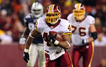 LANDOVER, MD - NOVEMBER 16:  Ladell Betts #46 of the Washington Redskins in action against the Dallas Cowboys on November 16, 2008 at FedEx Field in Landover, Maryland.  (Photo by Jim McIsaac/Getty Images)