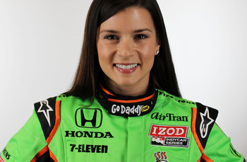 BIRMINGHAM, AL - MARCH 13:  Danica Patrick, driver of the #7 Andretti Motorsport Team GoDaddy.com Dallara Honda poses during the IRL Indy Car Series Media Day at Barber Motorsports Park on March 13, 2011 in Birmingham, Alabama.  (Photo by Nick Laham/Getty