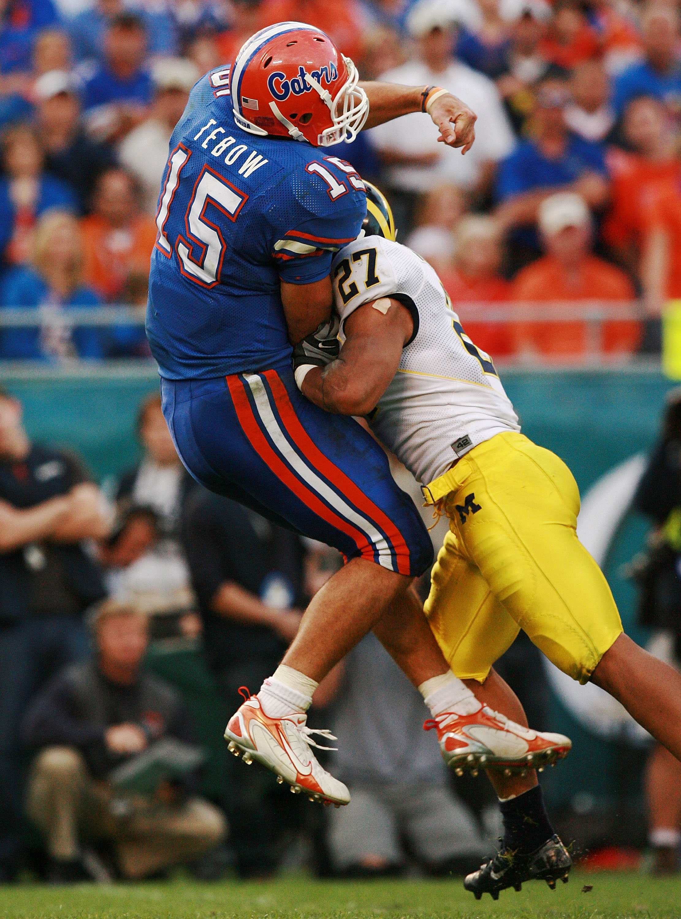 Heisman winner Tim Tebow and Florida were stunned by Michigan in January 2008