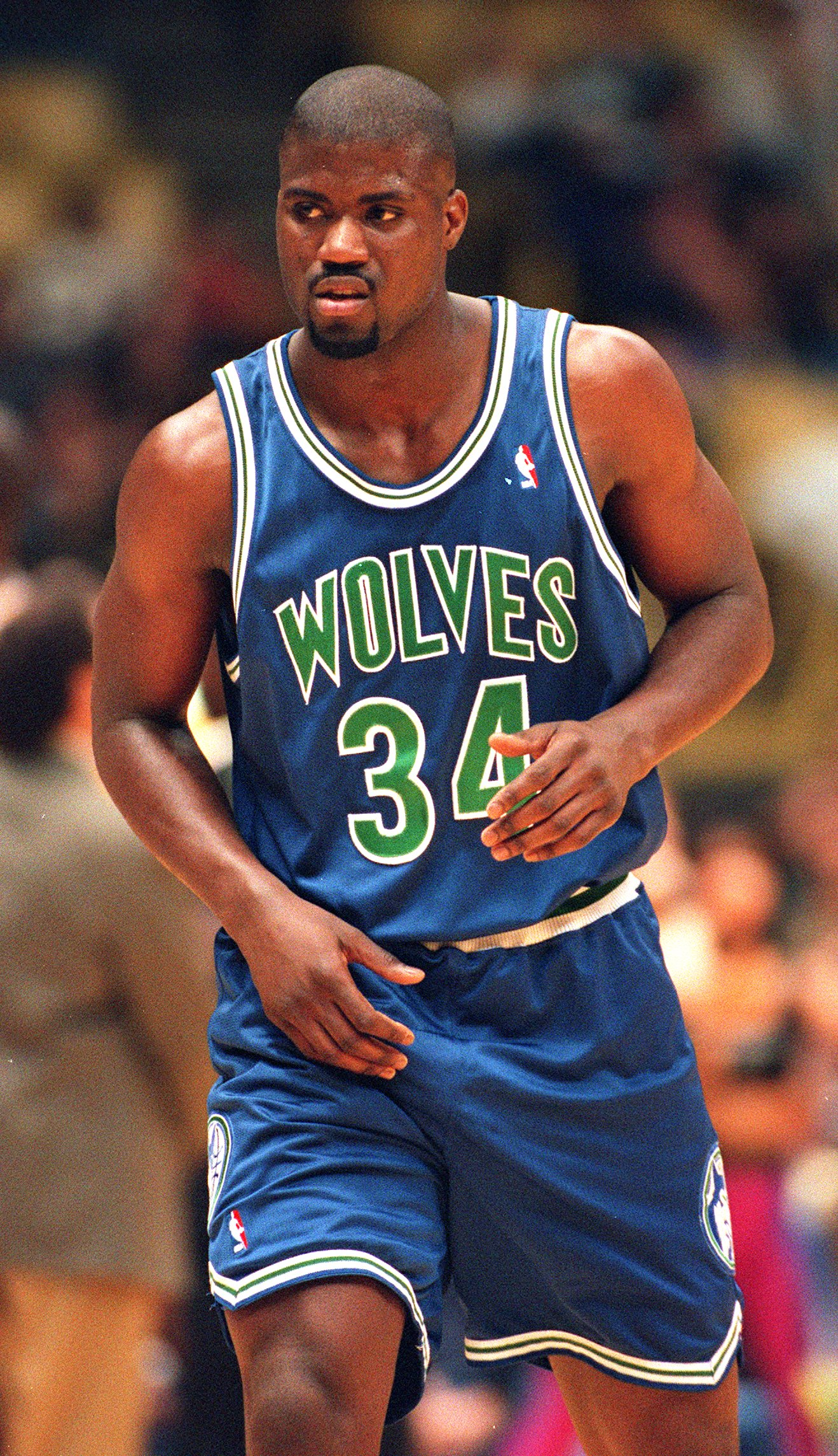5 DEC 1993:  MINNESOTA TIMBERWOLVES FORWARD ISAIAH RIDER ON THE COURT AGAINST THE LAKERS AT THE GREAT WESTERN FORUM IN INGLEWOOD, CALIFORNIA. Mandatory Credit: Al Bello/ALLSPORT