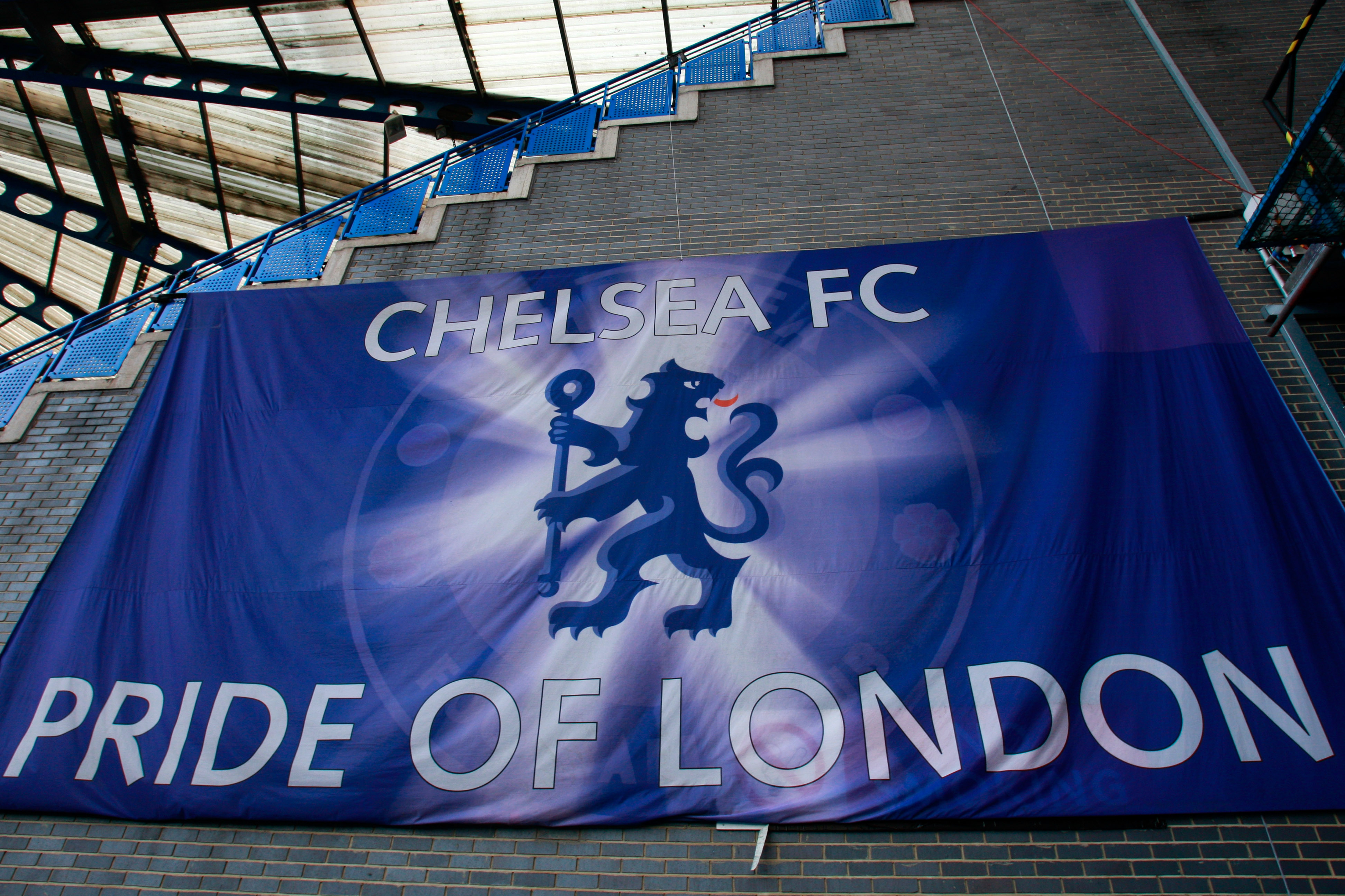 LONDON, ENGLAND - MARCH 02:  A general view of a banner inside of the stadium ahead of the FA Youth Cup sponsored by E.on sixth round match between Chelsea and Watford at Stamford Bridge on March 2, 2011 in London, England.  (Photo by Dan Istitene/Getty I