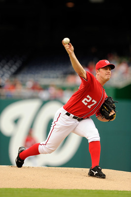 WASHINGTON, DC - MAY 01:  Jordan Zimmermann #27 of the Washington Nationals pitches against the San Francisco Giants at Nationals Park on May 1, 2011 in Washington, DC.  (Photo by Greg Fiume/Getty Images)