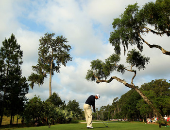 PONTE VEDRA BEACH, FL - MAY 12:  Tiger Woods hits his tee shot on the sixth hole during the first round of THE PLAYERS Championship held at THE PLAYERS Stadium course at TPC Sawgrass on May 12, 2011 in Ponte Vedra Beach, Florida. Woods withdrew after shoo