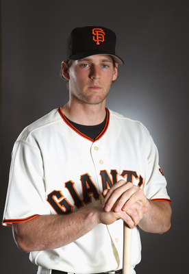 SCOTTSDALE, AZ - FEBRUARY 23:  Conor Gillaspie #50 of the San Francisco Giants poses for a portrait during media photo day at Scottsdale Stadium on February 23, 2011 in Scottsdale, Arizona.  (Photo by Ezra Shaw/Getty Images)