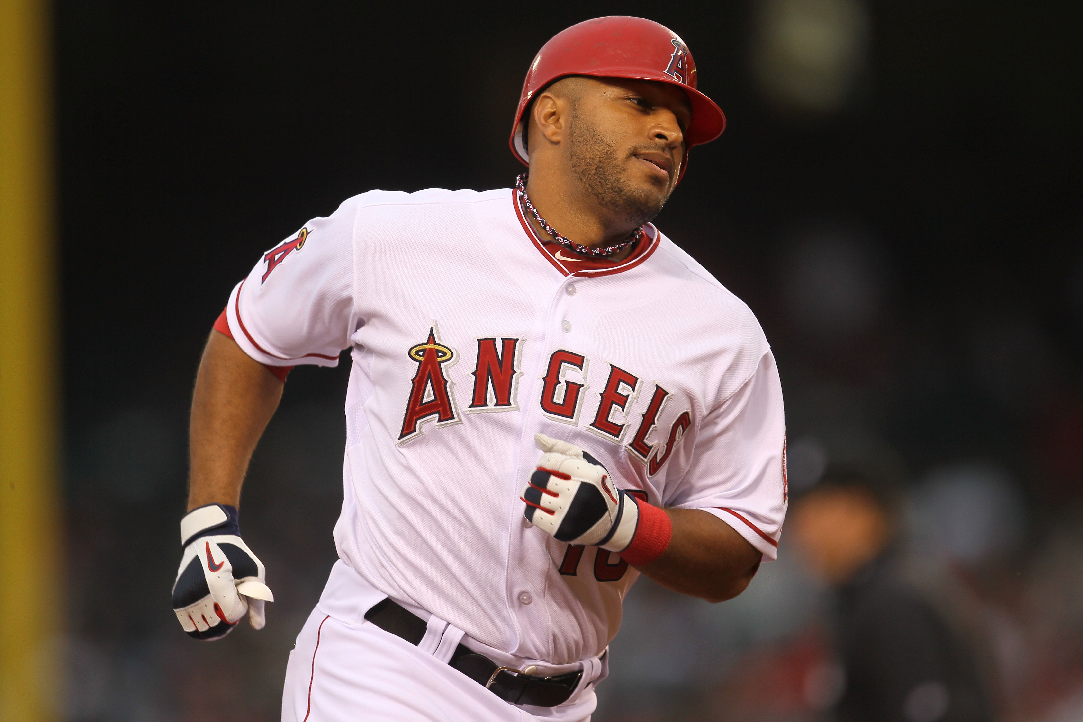 ANAHEIM, CA - MAY 07:  Vernon Wells #10 of the Los Angeles Angels of Anaheim rounds the bases after hitting his second inning two run home run against the Cleveland Indians on May 7, 2011 at Angel Stadium in Anaheim, California.  (Photo by Stephen Dunn/Ge