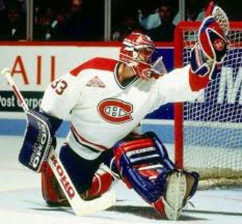 Canadiens legendary goaltender, Patrick Roy