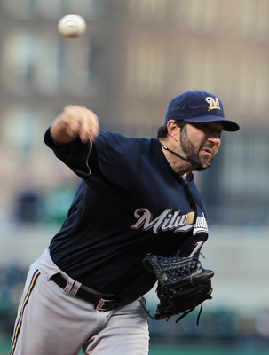 PITTSBURGH, PA - APRIL 13:  Shaun Marcum #18 of the Milwaukee Brewers throws a pitch during their game against the Pittsburgh Pirates at PNC Park on April 13, 2011 in Pittsburgh, Pennsylvania.  (Photo by Scott Halleran/Getty Images)