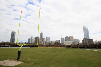 CHARLOTTE, NC - MARCH 04:  A general view of the Carolina Panthers practice facility outside Bank of America Stadium as the NFL lockout looms on March 4, 2011 in Charlotte, North Carolina.  (Photo by Streeter Lecka/Getty Images)