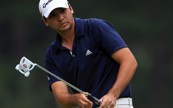HILTON HEAD ISLAND, SC - APRIL 22:  Jason Day of Australia hits a shot during the second round of The Heritage at Harbour Town Golf Links on April 22, 2011 in Hilton Head Island, South Carolina.  (Photo by Streeter Lecka/Getty Images)