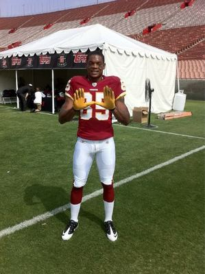 Leonard Hankerson at the NFL Rookie Photo Shoot