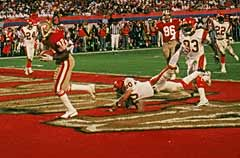 John Taylor Scores The Touchdown To Win Super Bowl XXIII