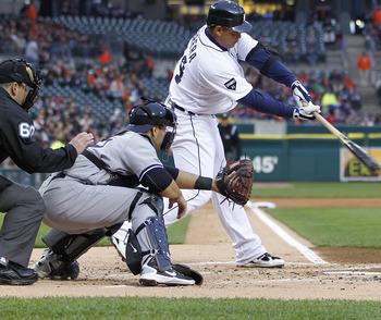 That bat is Miguel Cabrera's deadliest weapon.