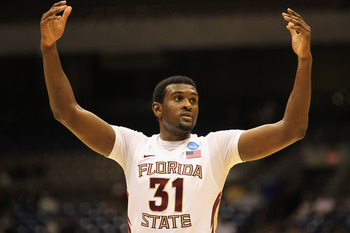 SAN ANTONIO, TX - MARCH 25:  Chris Singleton #31 of the Florida State Seminoles reacts during the southwest regional of the 2011 NCAA men's basketball tournament against the Virginia Commonwealth Rams at the Alamodome on March 25, 2011 in San Antonio, Tex