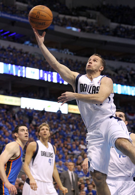 DALLAS, TX - MAY 17:  Jose Juan Barea #11 of the Dallas Mavericks shoots the ball in the lane while taking on the Oklahoma City Thunder in Game One of the Western Conference Finals during the 2011 NBA Playoffs at American Airlines Center on May 17, 2011 i