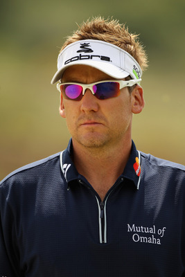 CASARES, SPAIN - MAY 19:  A portrait of Ian Poulter of England during the group stages of the Volvo World Match Play Championships at Finca Cortesin on May 19, 2011 in Casares, Spain.  (Photo by Warren Little/Getty Images)