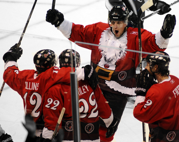 78cc1059f1b The Las Vegas Wranglers of the ECHL donned these festive Santa jerseys, but  it's not their only jersey to make this list.