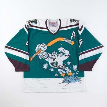 0347ca0b844 This epic fail of a marketing scheme is the single most hideous sweater in  all of hockey history, donned by the