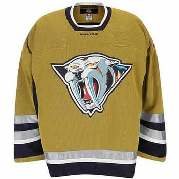 f0923ea8966 The color scheme of this alternate jersey is bad, but the logo completes  its transformation into one of the worst NHL jerseys ever.