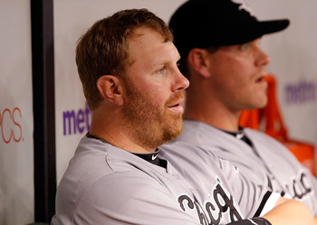 ST PETERSBURG, FL - APRIL 21:  Designated hitter Adam Dunn #32 of the Chicago White Sox watches from the bench against the Tampa Bay Rays during the game at Tropicana Field on April 21, 2011 in St. Petersburg, Florida.  (Photo by J. Meric/Getty Images)