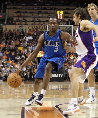 PHOENIX, AZ - MARCH 27:  Rodrigue Beaubois #3 of the Dallas Mavericks drives the ball past Steve Nash #13 of the Phoenix Suns during the NBA game at US Airways Center on March 27, 2011 in Phoenix, Arizona.  NOTE TO USER: User expressly acknowledges and ag