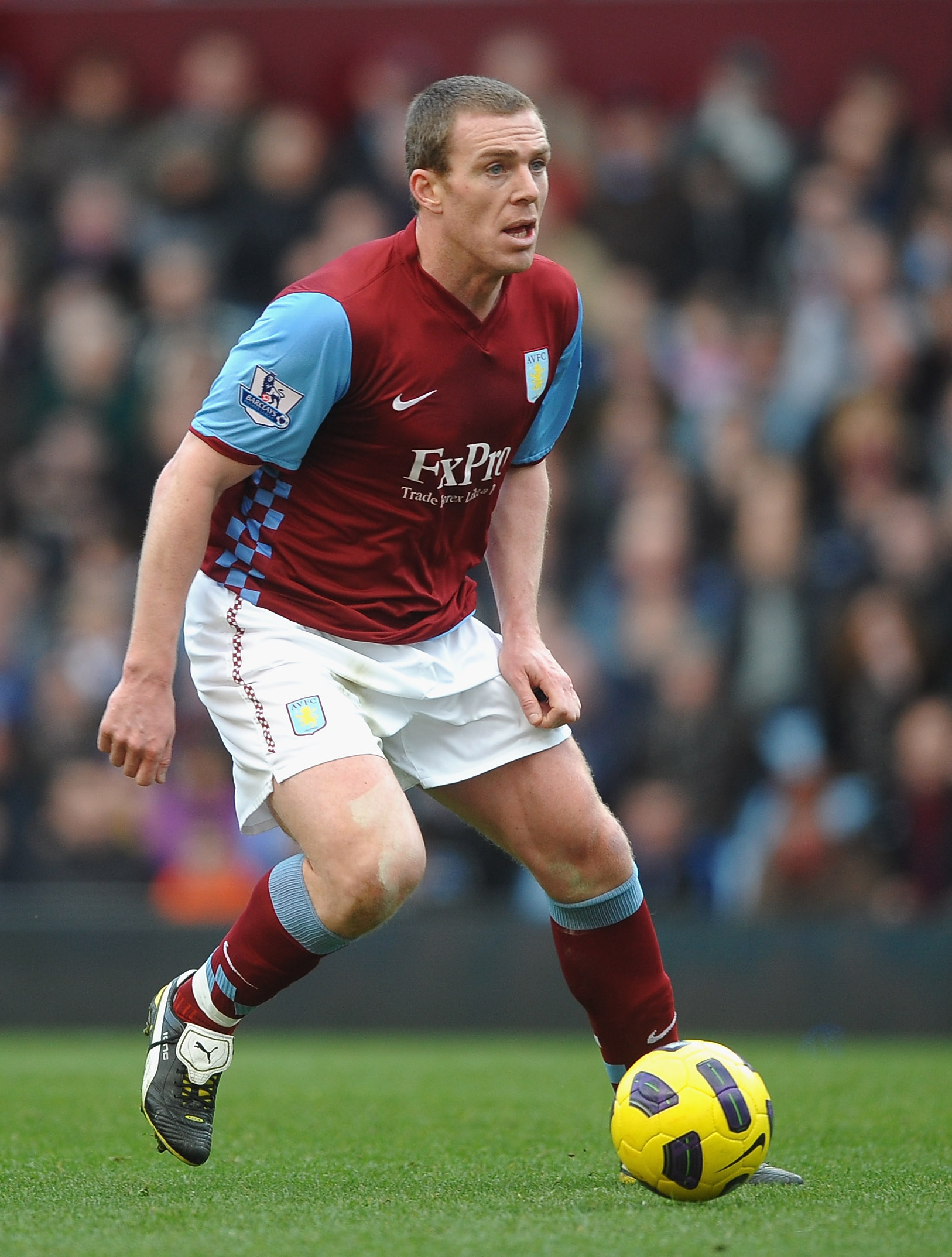 BIRMINGHAM, ENGLAND - FEBRUARY 26: Richard Dunne of Aston Villa in action during the Barclays Premier League match between Aston Villa and Blackburn Rovers at Villa Park on February 26, 2011 in Birmingham, England.  (Photo by Laurence Griffiths/Getty Imag